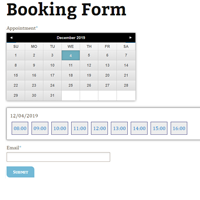 Appointment Booking Forms